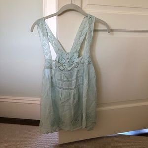 Free people light blue tank